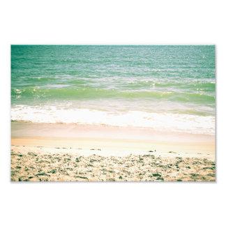 Fotografia Pastel da praia das ondas calmas