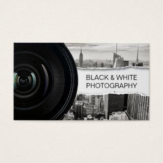 Fotografia preta do fotógrafo & branca moderna cartão de visitas