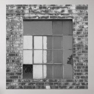 Fotografia preto e branco da janela poster