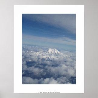 "Fotografia profissional do ""Monte Rainier"" Poster"