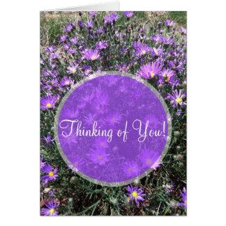 Fotografia roxa do remendo do Wildflower Cartão Comemorativo