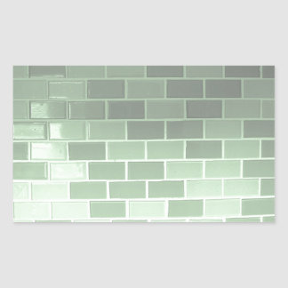 Fotografia verde do azulejo adesivo retangular