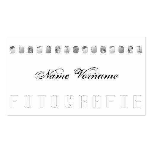 fotografie modelos cartão de visita