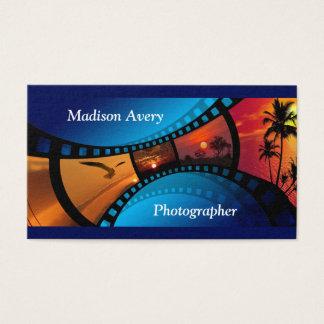 Fotógrafo das fotos do filme da fotografia cartão de visitas