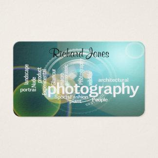 Fotógrafo de Bokeh da tipografia de Photagraphy Cartão De Visitas