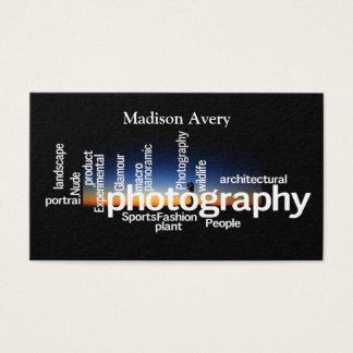 Fotógrafo do nascer do sol da tipografia da cartão de visitas