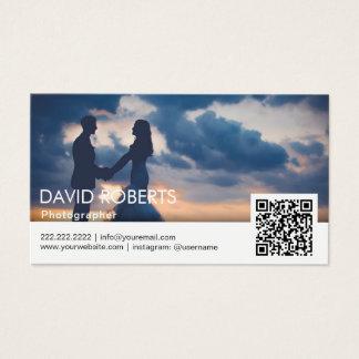 Fotógrafo moderno do código da fotografia QR Cartão De Visitas