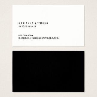 fotógrafo moderno do contato mínimo da introdução cartão de visitas