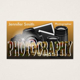 Fotógrafo profissional cartão de visitas