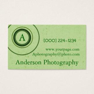 Fotógrafo retro do monograma cartão de visitas