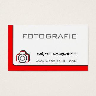 fotokamera cartão de visitas