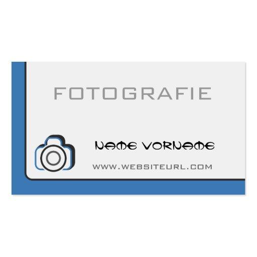 fotokamera cartões de visitas