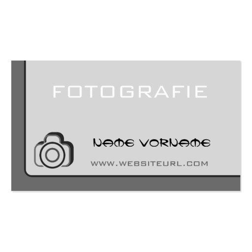 fotokamera cartao de visita