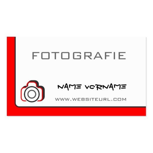 fotokamera cartoes de visitas
