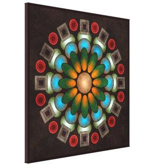 Fotorreceptor abstrato floral bonito das canvas da impressão em tela