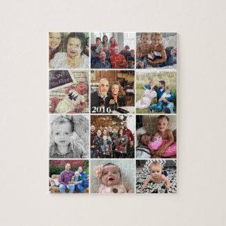 Fotos de família da colagem da foto quebra-cabeça