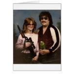 Fotos de família inábeis - casal com papagaio! cartões