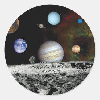 Fotos do espaço do montagem das imagens do adesivo