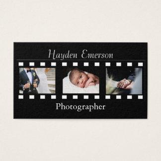 Fotos do fotógrafo dos quadros de filme da cartão de visitas