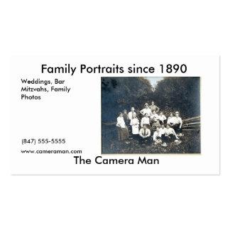 Fotos do vintage cartão de visita