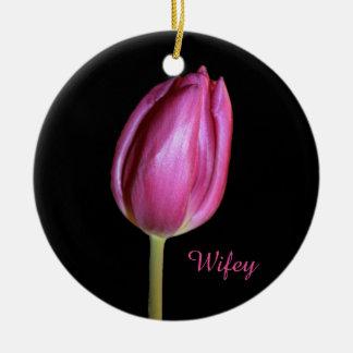 Fotos florais das flores das tulipas do rosa da ornamento de cerâmica