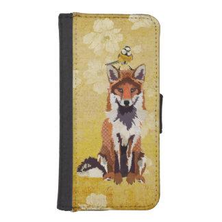 Fox ambarino caixa azul pequena da carteira do