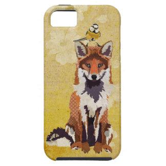Fox ambarino caixa azul pequena do pássaro capa de iPhone 5 Case-Mate