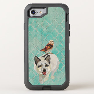 Fox ártico & coruja capa para iPhone 7 OtterBox defender