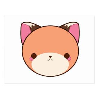 Fox de Kawaii Cartão Postal