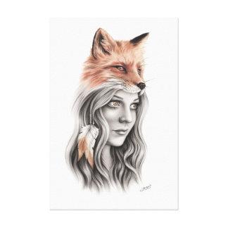 Fox e as canvas da menina