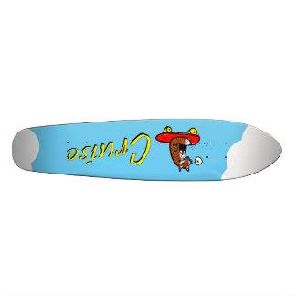Fox em um conselho da moeda de um centavo skate boards