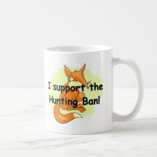 Fox eu apoio a proibição da caça caneca de café