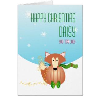 Fox no cartão de Natal dos mitenes