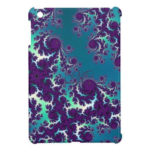 Fractal abstrato do roxo do verde azul capa para iPad mini