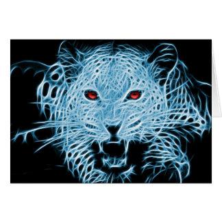 Fractal azul do leopardo de Digitas Cartão Comemorativo