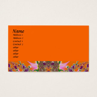 fractal colorido cartão de visita