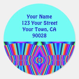 Fractal colorido das etiquetas de endereço adesivo