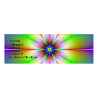 Fractal da flor cartão de visita skinny