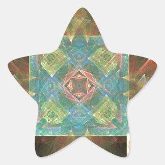 Fractal de madeira dos azulejos adesito estrela