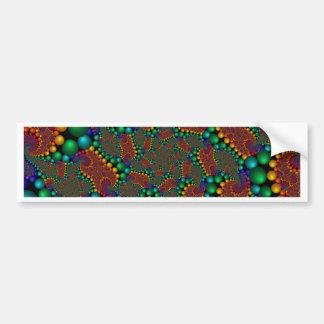 Fractal espiral do arco-íris adesivo para carro