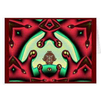 Fractal festivo cartão comemorativo