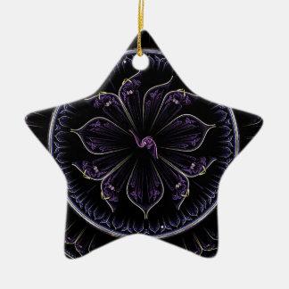 fractal roxo escuro ornamento de cerâmica
