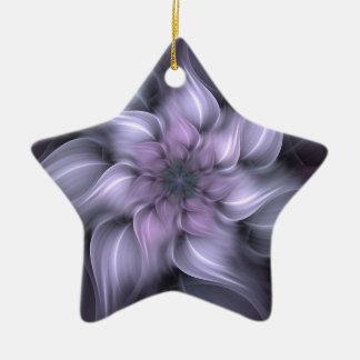 Fractal roxo ornamento de cerâmica