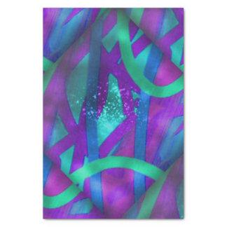 Fractals brilhantes papel de seda