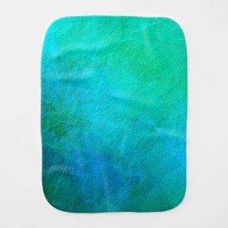 Fralda De Boca Arte abstracta artística do gelo de água-marinha