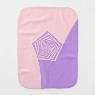 Fralda De Boca Espiral do Pentágono em rosa pálido e na lavanda