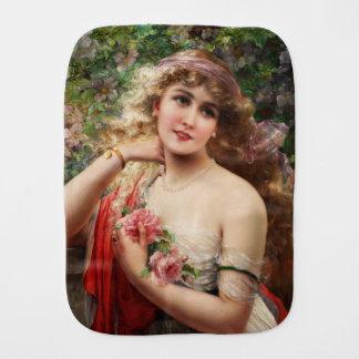 Fralda De Boca Jovem senhora com os rosas por Emile Vernon