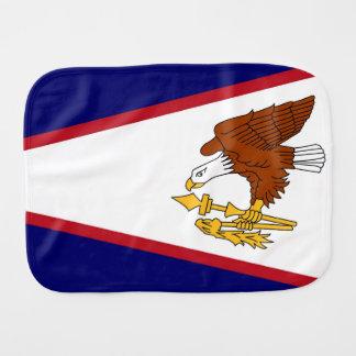 Fralda De Boca Pano patriótico do burp com a bandeira de Samoa