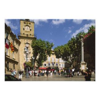 France, Aix-en-Provence, La Lugar de la Maire Impressão De Foto