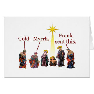 Frank enviou a isto - o cartão de Natal